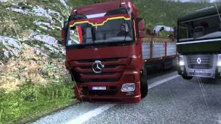 getlinkyoutube.com-Разбили Мерс (accident smashed Mercedes Part-1) (Euro Truck Simulator 2)