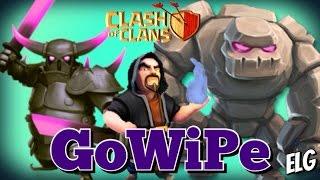 getlinkyoutube.com-3 Star GoWiPe Attack Strategy Gameplay | Golem Wizards P.E.K.K.A. Raids | Clash of Clans