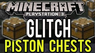 getlinkyoutube.com-Minecraft Playstation Glitch - Piston Chests!