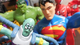 getlinkyoutube.com-Brainiac Darkseid X Super Homem Superman Imaginext Lego Mattel boneco Homem Aranha Hulk Marvel Toys