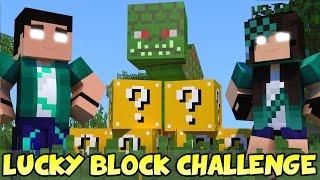 getlinkyoutube.com-Minecraft com Namorada: NAGA CHALLENGE GAMES - Lucky Block Mod - Mini-Game com MODS