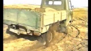 getlinkyoutube.com-Колёсно-шагающий УАЗ  на   песке АВГ2013