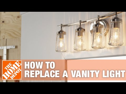 How to Install Vanity Lights - The Home Depot Wiring Vanity Lights on