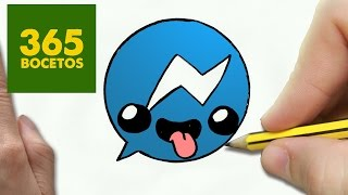 getlinkyoutube.com-COMO DIBUJAR LOGO MESSENGER KAWAII PASO A PASO - Dibujos kawaii faciles - How to draw Logo Messenger