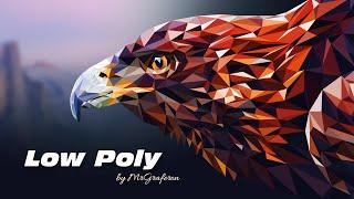 getlinkyoutube.com-Low Poly eagle. Рисуем орла в стиле low poly. Уроки Adobe Illustrator