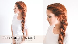 The 2 Minute Rope Braid Hairstyle | The Freckled Fox