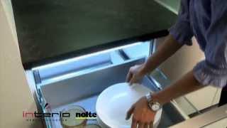 Oświetlenie w szufladzie - meble kuchenne Nolte