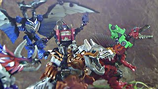getlinkyoutube.com-Transformers Age Of Extinction Stop Motion: Optimus Prime vs Grimlock