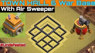 getlinkyoutube.com-BEST UNDEFEATED #1 TOWN HALL 6 War Base with Air Sweepers (TH6) | Clash of Clans