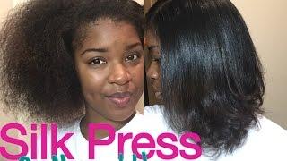 getlinkyoutube.com-Silk Press Natural Hair At Home