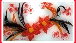 getlinkyoutube.com-How to make DIY paper quilling DESIGNS - Art / Flower Design / Ideas Tutorial!