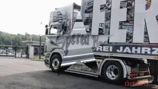getlinkyoutube.com-Neuer Scania V8 Bretagne Express - Fernfahrer Showtruck
