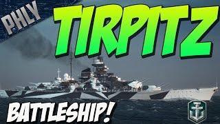 getlinkyoutube.com-GERMAN BATTLESHIP TIRPITZS! (World Of Warships Battleship Gameplay)