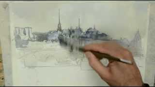 getlinkyoutube.com-Como pintar acuarela paso a paso. . Watercolor tutorial. http://ricardoazkargorta.blogspot.com.es/