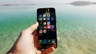 getlinkyoutube.com-iPhone 7 in Salty Dead Sea for 24 Hours - Will it Survive?