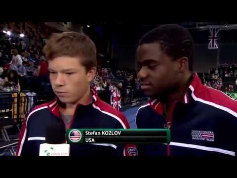Team USA rookies. Kozlov and Tiafoe