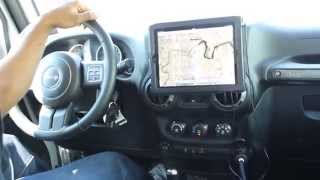 getlinkyoutube.com-(Long Video) New iPad on Car Dash - Monti for Tablets in the Jeep Wrangler, works with all tablets