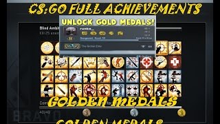 getlinkyoutube.com-CSGO Map Achievements--Global Expertise Medal- #- Golden Medal-