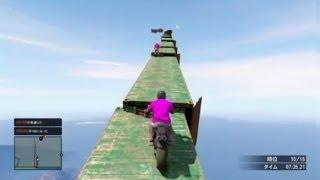 getlinkyoutube.com-【GTA5】1000m級!?超特大ジャンプ台から決死の大ジャンプ!【4545隊】