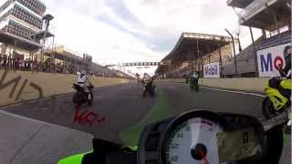 getlinkyoutube.com-Superbike Series 2012 - 600 Supersport 5a Etapa - Interlagos - Onboard - André Verissimo
