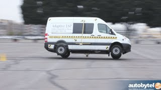 getlinkyoutube.com-2013 Mercedes Sprinter Tour ESP Obstacle Avoidance Demo & Car Safety Test Video