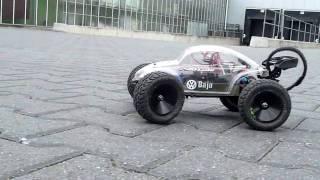 getlinkyoutube.com-Traxxas Mini E-Revo's on BMX track America