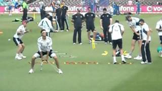 England Cricket Team Warming Up