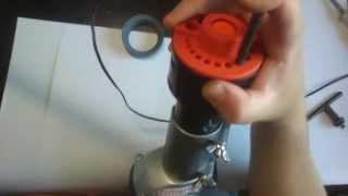 getlinkyoutube.com-Насадка на дрель для заточки свёрел 0-10 мм