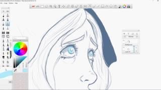 getlinkyoutube.com-SPOILERS Steven Universe Blue Diamond Art Timelapse