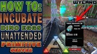 getlinkyoutube.com-Ark Survival Primitive Server - How to Incubate Dino Eggs Unattended - Dimetrodon