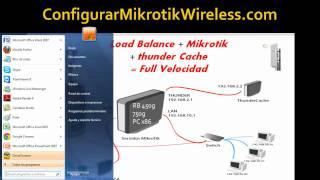 getlinkyoutube.com-Como Configurar Balanceo-Mikrotik-ThunderCache Pro 6