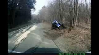TIR taranuje ciągnik w Polsce