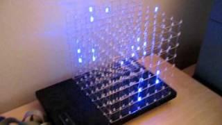 getlinkyoutube.com-LED Cube 8x8x8 running on an Arduino