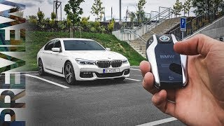 getlinkyoutube.com-BMW 7 Series (G11) - Remote Control Parking