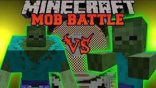 getlinkyoutube.com-MUTANT ZOMBIE VS. GIANT ZOMBIE - Minecraft Mob Battles - Arena Battle - Mutant Creatures Mod
