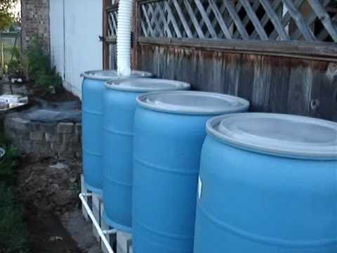 DIY Multiple Rain Barrel System How To