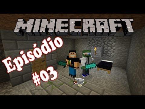 #03 - Minecraft - Briga de Esqueleto e a Galinha Pintadinha  com (ft. Romano)