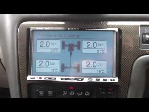 Работа системы контроля давления в шинах на Chaser 100