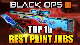 "Black Ops 3 - ""TOP 10 PAINTSHOP CAMOS!"" Best Rare Paintjob Camo - (BO3 Rare Camo)"
