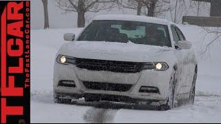 getlinkyoutube.com-2015 Dodge Charger SXT Snowy AWD TFL4K Review: The Winter Warrior