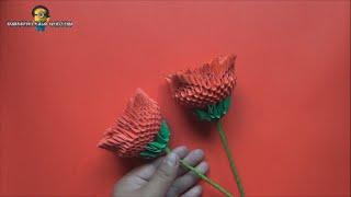 getlinkyoutube.com-Origami 3D Rosa