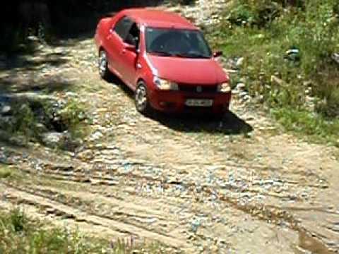 Transalpina:Fiat Albea in Parang 2011