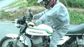 getlinkyoutube.com-KAWASAKI SS750 MACHⅢ マッハ3 H2B