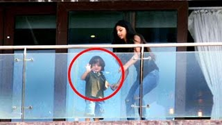 getlinkyoutube.com-Shahrukh Khan's HOT Daughter Suhana With Abram Khan At Mannat On SRK's Birthday