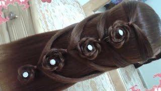 getlinkyoutube.com-peinados recogidos faciles para cabello largo bonitos y rapidos con trenzas para niña para fiestas 3