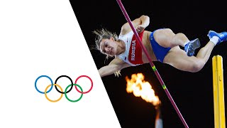 getlinkyoutube.com-Yelena Isinbayeva Wins Gold in Pole Vault - Athens 2004 Olympics