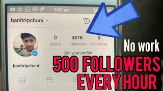 Get 500 instagram followers every hour (No Work-Free followers)