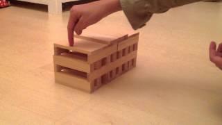 getlinkyoutube.com-How to build a House with Kapla Blocks