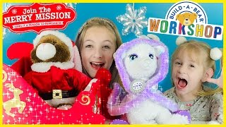 getlinkyoutube.com-NEW BUILD-A-BEAR CUTEST LIGHT UP REINDEER GLISTEN & SANTA BUNNY! BUILD-A-BEAR CHRISTMAS HAUL! PLP TV