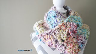 Easy Crochet Scarf - Snuggle Up Scarf Pattern by Red Heart Left Handed